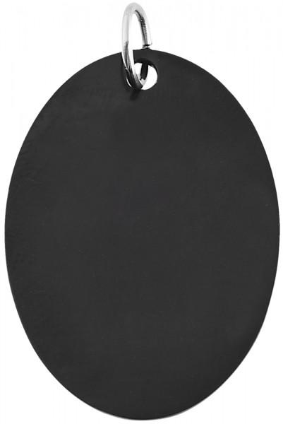 Akzent Edelstahl Gravuranhänger mit IP Beschichtung, schwarz, matt, glänzend