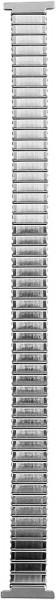 Zugband Edelstahl Armband in silber, poliert, 10 mm