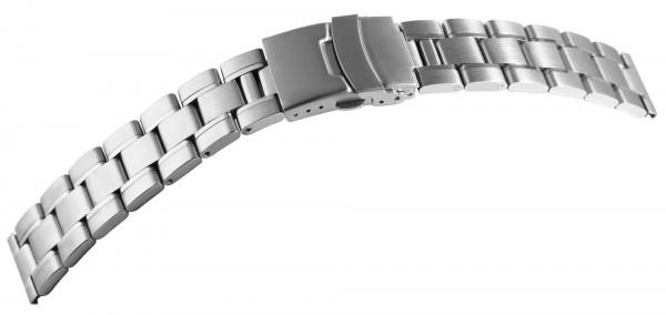 Edelstahl-Uhrenarmband, silberfarben, 18 mm