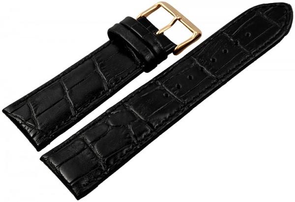 Engelhardt Lederband, schwarz