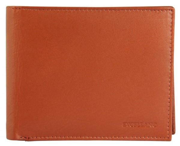 Excellanc Herren Geldbörse aus Echtleder. Format 12 x 10 cm.