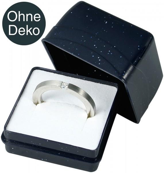 Ring Box Kunststoff dunkelblau