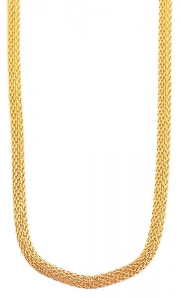 Akzent Edelstahl Damen Schlangenkette, Länge: 70 cm / Stärke: 5 mm