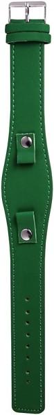Lederimitations-Uhrenarmband, grün, 10 mm