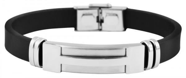 Akzent Armband aus Echt Leder und Edelstahl