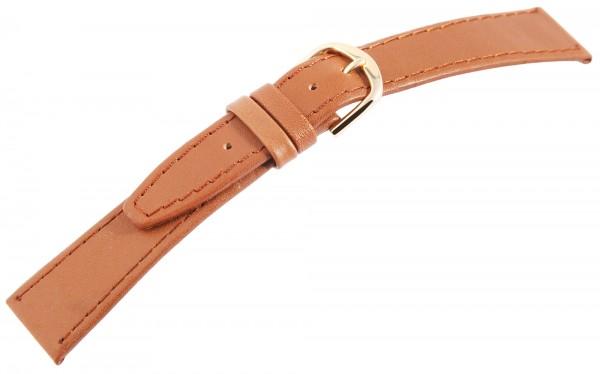 Echtleder-Uhrenarmbänder, hellbraun, VE 12, 18 mm