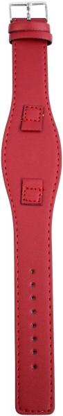 Lederimitation-Uhrenarmband, pink, 10 mm