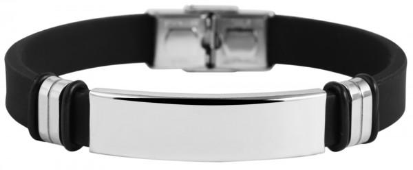 Akzent Armband aus Kautschuk und Edelstahl