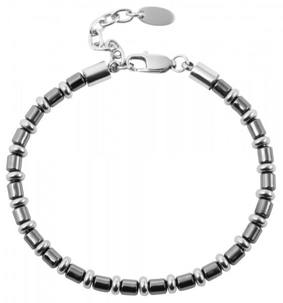 Akzent Edelstahl Armband (Hematite) 18 cm