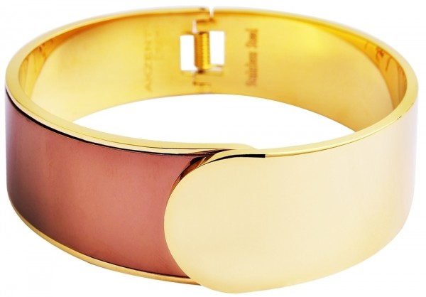 Akzent Armreif aus Edelstahl in goldfarbig mit IP Gold-Beschichtung
