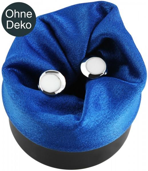 Ringbox mit Drehverschluss, blau (ohne Deko)