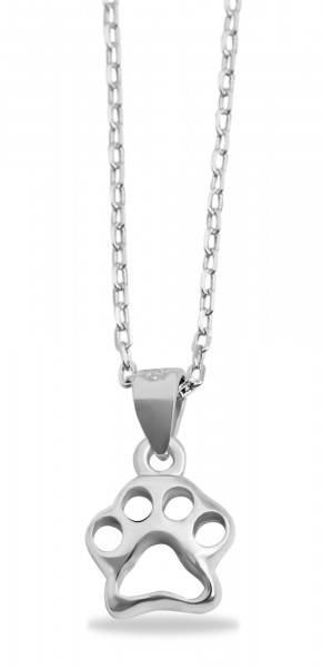 925 Silber Halskette, 43+5cm, 925/rhodiniert,1,8g