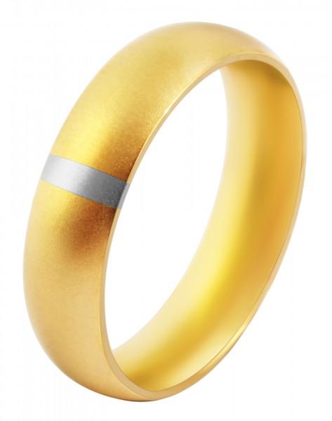 Partnerring aus Edelstahl der Marke Akzent in goldfarbig