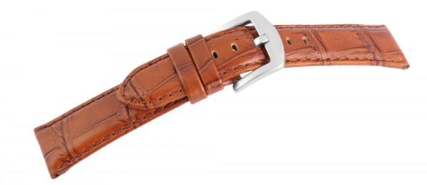 Echtleder-Uhrenarmband, braun, 22 mm