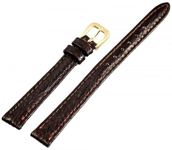 Basic Echtleder Armband, in dunkelbraun, Haifisch, flach