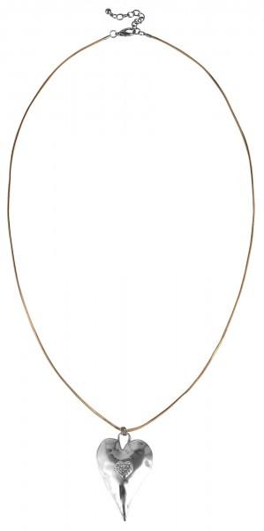 Cham Cham Metall Damen Schlangenkette, Länge: 80 cm / Stärke: 1 mm