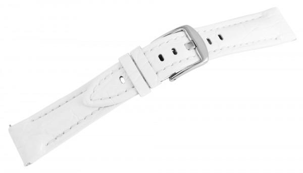 Echtleder-Uhrenarmband, weiß, 20 mm / 26 mm