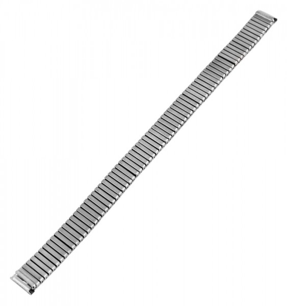 Metall-Zugarmband, silberfarben, 12 mm