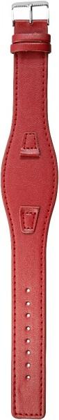 Lederimitation-Uhrenarmband, rot, 10 mm