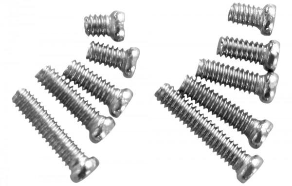 Edelstahlschrauben im Sortierkasten, 1,6mm - 5,5mm je 100 Stück
