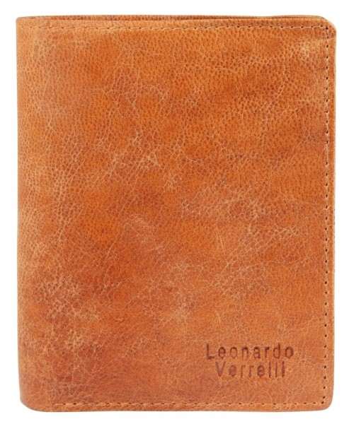 Leonardo Verrelli Herren Geldbörse aus Echtleder, RFID