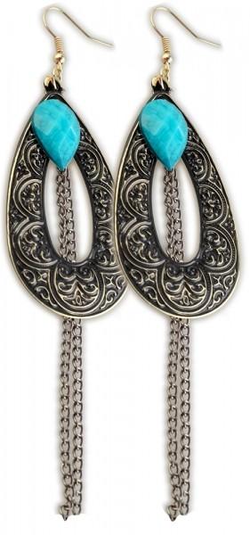 Ohranhänger, Türkis