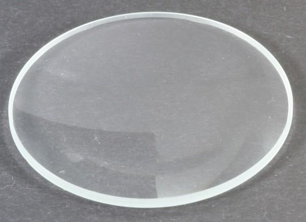 Mineralglas, flach - Durchmesser: 43 mm / Höhe: 1 mm