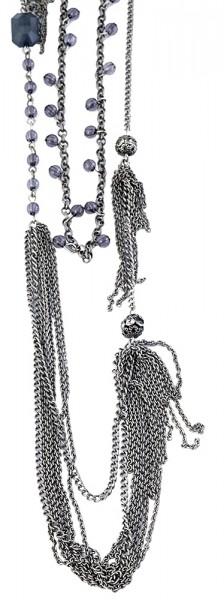 Metall Damen Ankerkette, Länge: 88 cm / Stärke: 4 mm