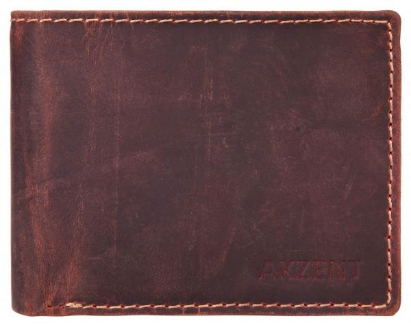 Akzent Herrengeldbörse aus Echt Leder