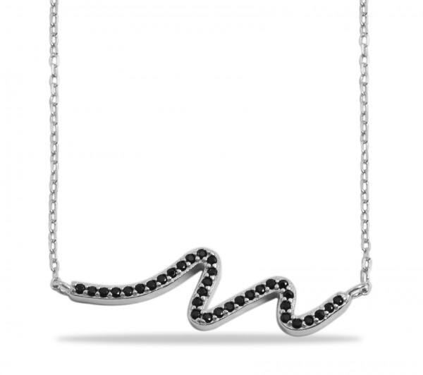 925 Silber Halskette, 43+5cm, 925/rhodiniert, 2,5g