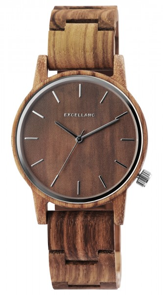 Excellanc Herrenarmbanduhr aus Holz