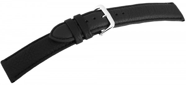 Echtleder-Uhrenarmbänder, schwarz, VE 10, 18 mm - 24 mm