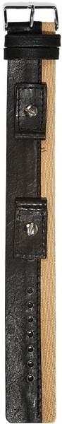 Hochwertiges Echt-Lederband, schwarz/beige, Gr. 14, 16, 18