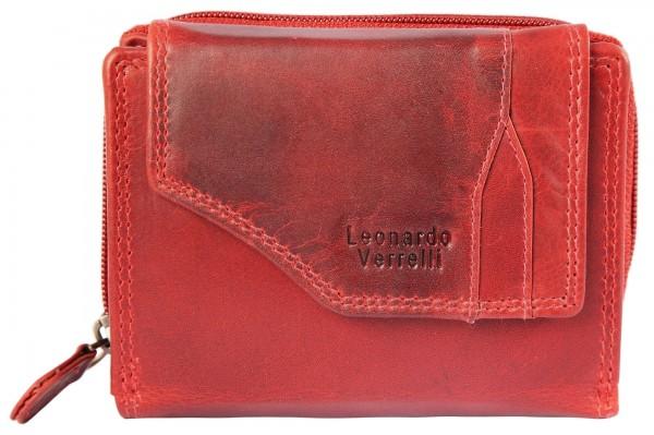Leonardo Verrelli Damengeldbörse aus Echt Leder