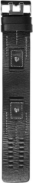 Hochwertiges Echt-Lederband, schwarz, Set, Gr. 18, 20, 22