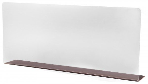 Schild, transparent, 34 cm x 15 cm x 2 cm