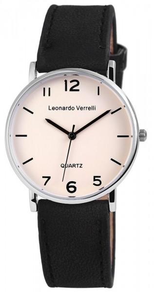 Leonardo Verrelli Unisexuhr mit Lederimitationsarmband