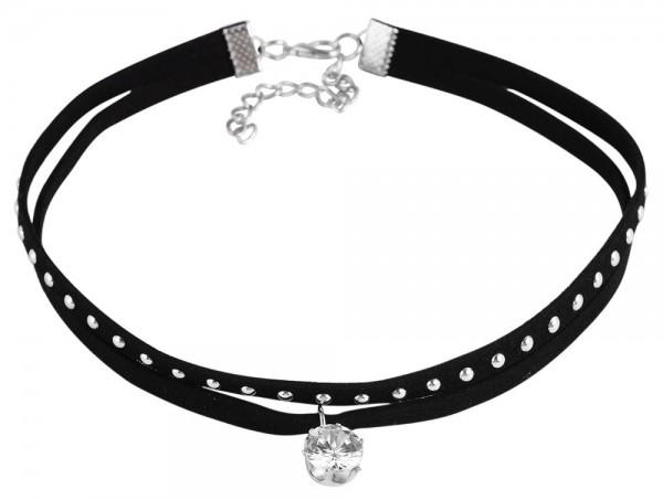 Textil Damen Halskette, Länge: 31 cm / Stärke: 10 mm
