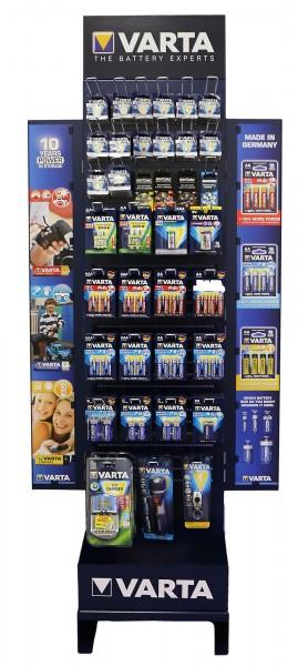 Varta Warenträger, bestückt mit 36 verschiedenen Artikeln, UVP Warenwert 2460,48 €