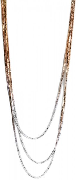 Metall Damen Schlangenkette, Länge: 90 cm / Stärke: 10 mm