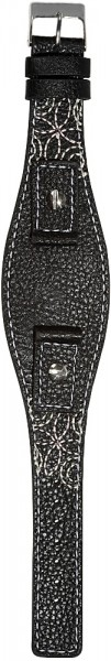 Hochwertiges Echt-Lederband, schwarz, Set, Gr. 14, 16, 18