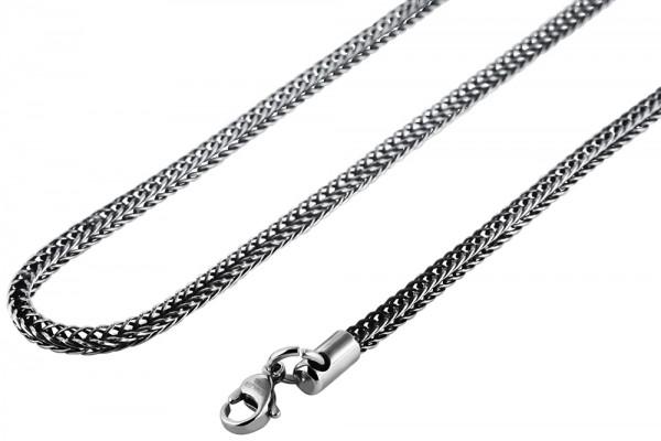Akzent Edelstahl Unisex Schlangenkette, Länge: 55 cm / Stärke: 3 mm