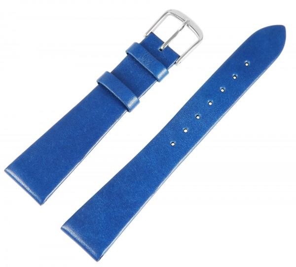 Echtleder-Uhrenarmband, blau, 18 mm / 20 mm