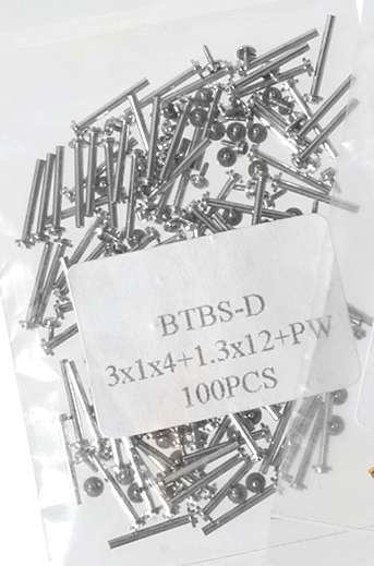 Mittelbandstege, Silber (VE 100 Stück) - 20mm Ø 1mm