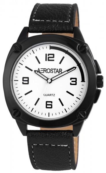 Aerostar Herrenuhr mit Lederimitationsarmband