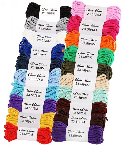 Cham Cham Bänder, 6 m, Starterset, 20 verschiedene Farben/Set