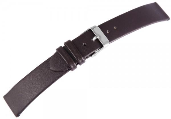 Basic Echtleder Armband in dunkelbraun, glatt, flach