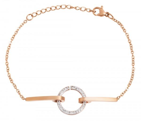 Akzent Edelstahl Armband, 17+3cm