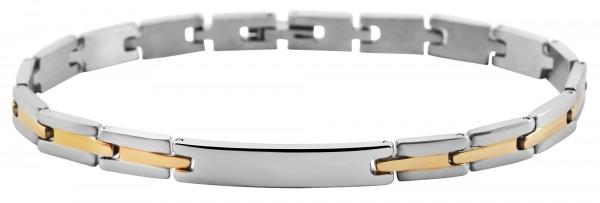 Akzent Armband mit gravurfähiger Identplatte aus Edelstahl
