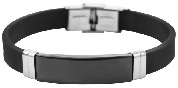 Akzent Armband aus Edelstahl und Silikon